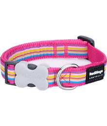 Obojek RD 20 mm x 30-47 cm - Horizontal Stripes Hot Pink