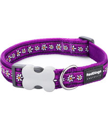 Obojek RD 20 mm x 30-47 cm - Daisy Chain Purple
