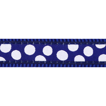 Obojek RD 15 mm x 24-37 cm - White Spots on Navy