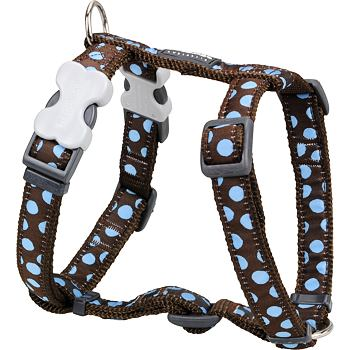 Postroj RD 15 mm x 36-54 cm - Blue Spots on Brown