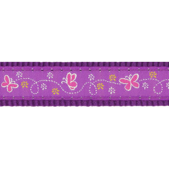 Obojek RD 12 mm x 20-32 cm - Butterfly Purple